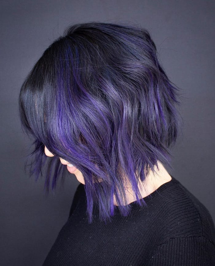 15 Hottest Black And Purple Hair Ideas For 2020
