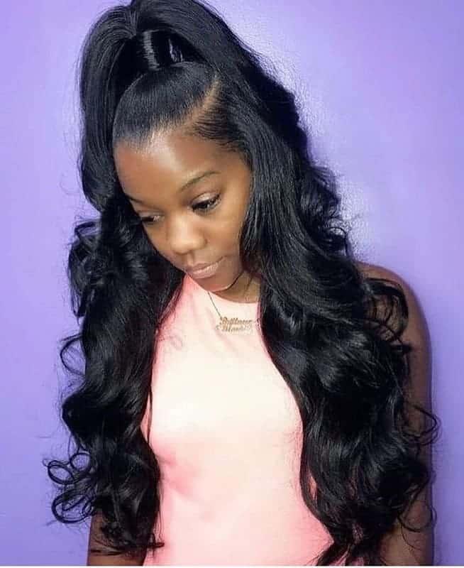 30 Stunning Ponytail Hairstyles for Black Women