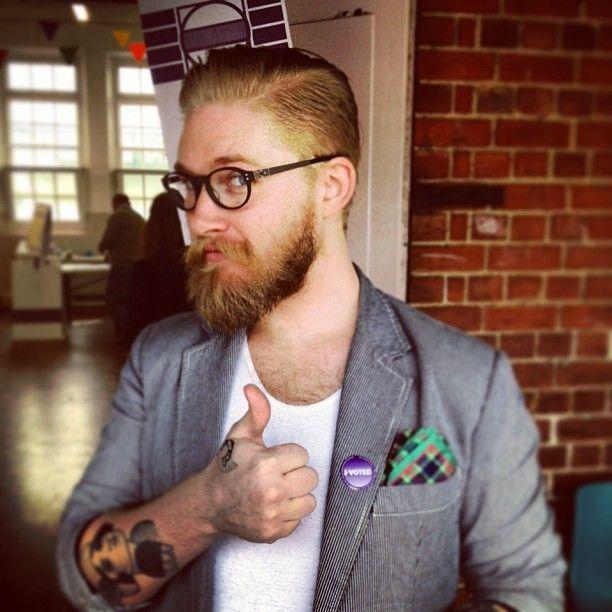 Nice Beard with a Shaped Mustache