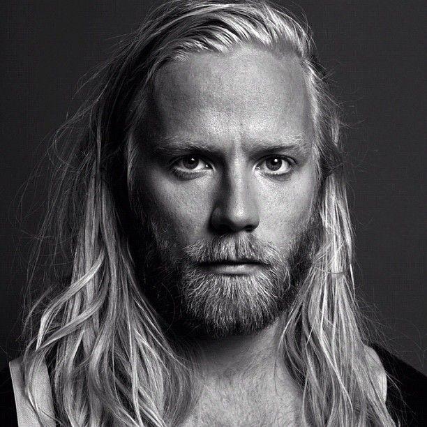 Full blonde Beard with Long Hair