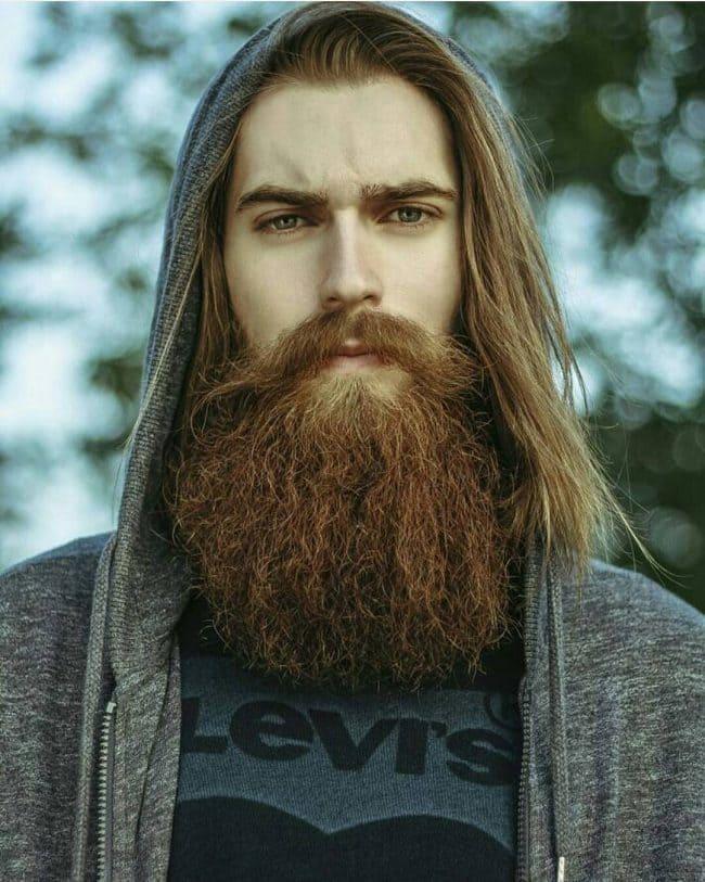 Mens Natural Ginger Blonde Beard