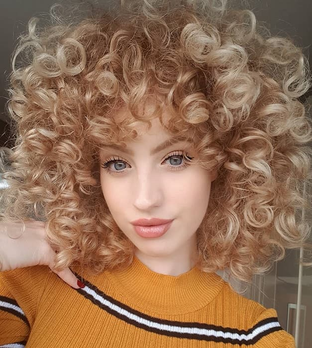 What result? girls with blonde curly hair for the