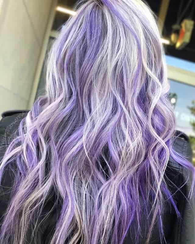 6 Ways To Uplift Blonde Hairstyle With Purple Highlights