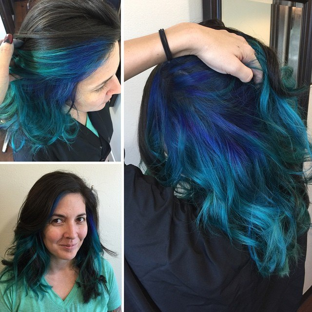 Dye Black Hair To Blue Tools Needed