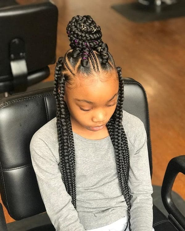 35 Gorgeous Box Braids For Kids In 2021 Hairstylecamp