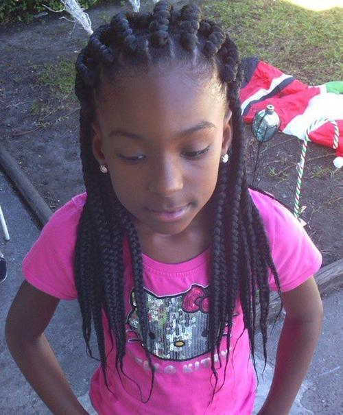 Twists Box Braids for black little girl