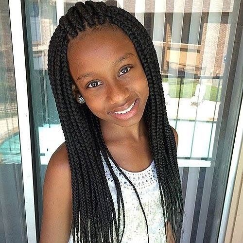 Box Braids Comb Over Hairstyle