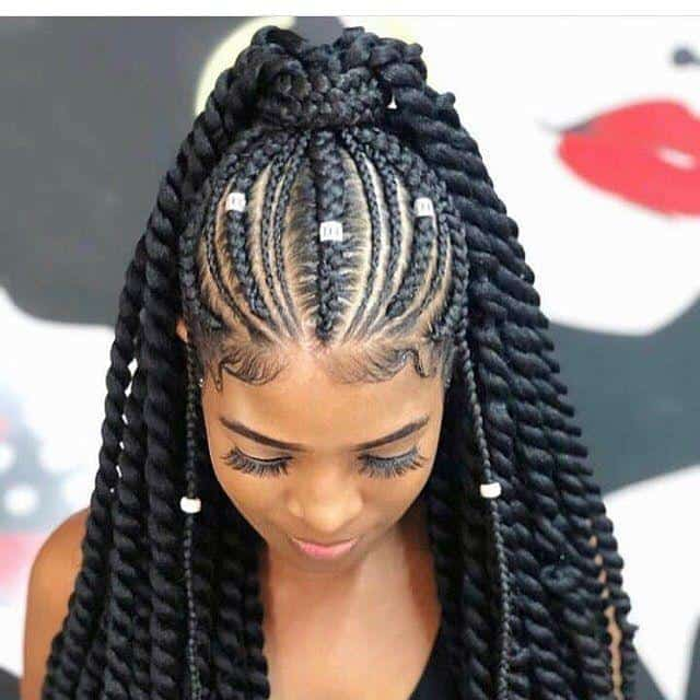 120 Captivating Braided Hairstyles for Black Girls\u200e (2019)