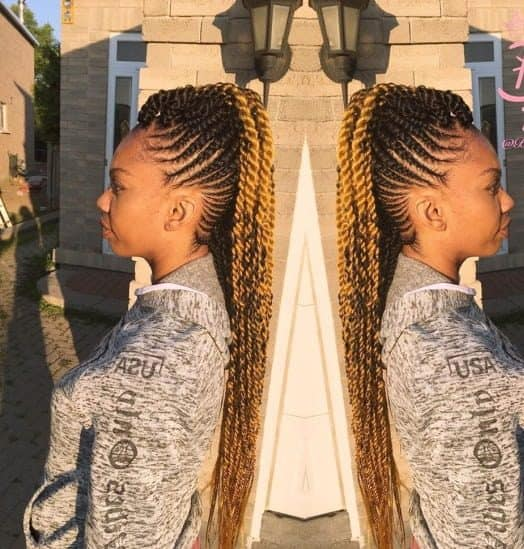 10 Stunning Braided Mohawk Hairstyles With Weave Hairstylecamp