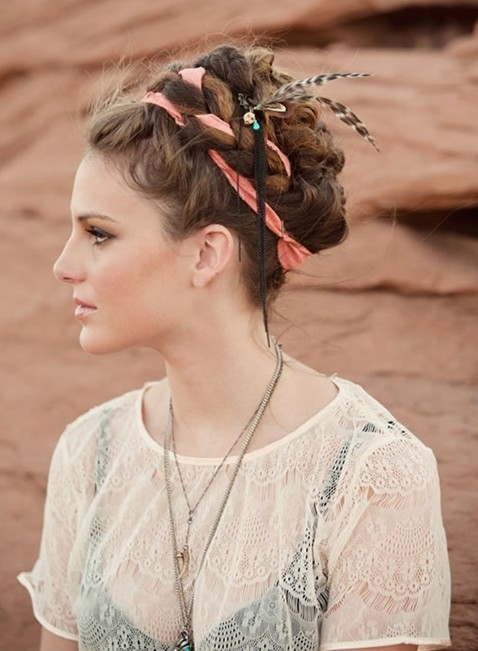 braided updos hairstyle for young girls