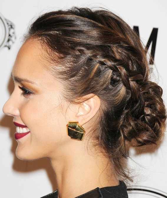 Brown caramel with braided Hairstyle you like