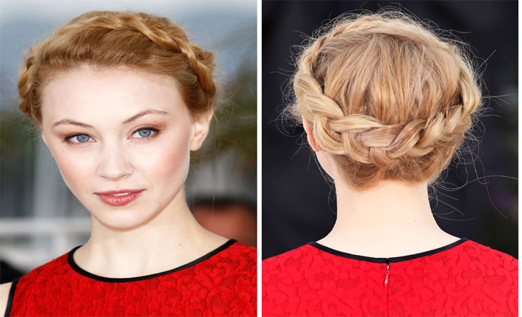 Halo Effect with updo braids hairstyle