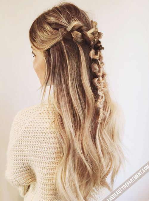 Waterfall braided updos hairstyles for girl