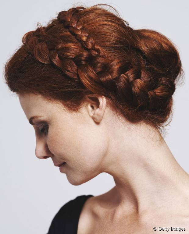 Auburn Is A Gorgeous Colour For Braided Hairstyle Looks Perfect On People Who Have Very Pale Or Alabaster Skin Tone