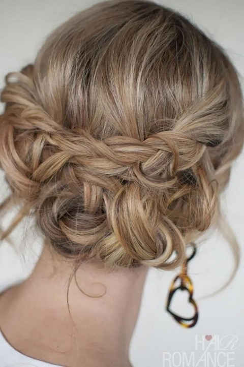Croissant with braided updos hairstyle
