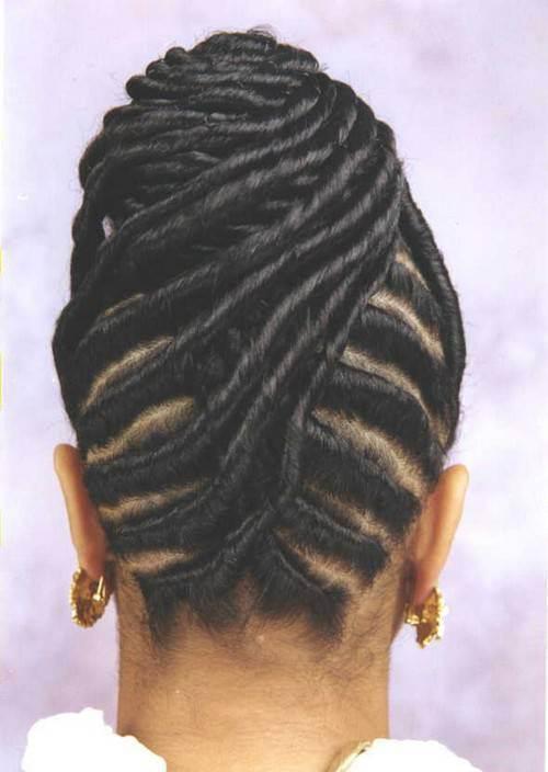 black braided updos