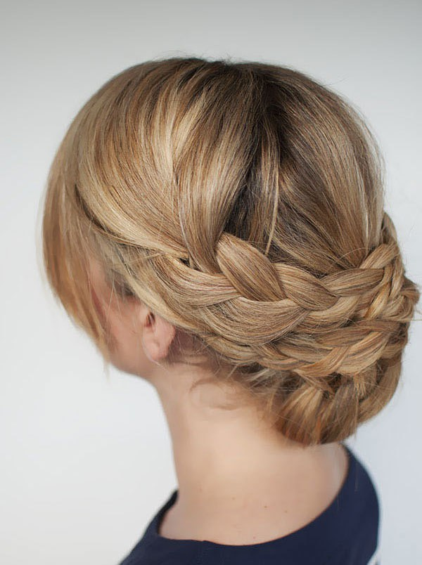 Croissant Style braided updos