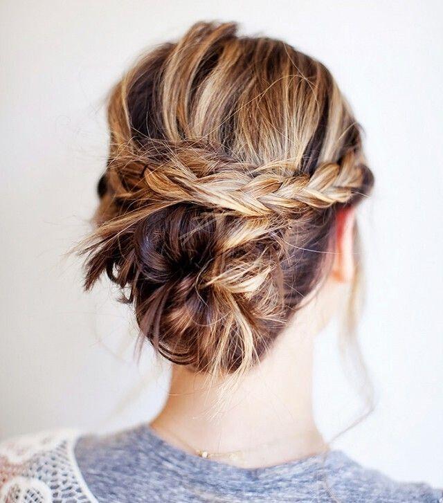 updo braids with bun