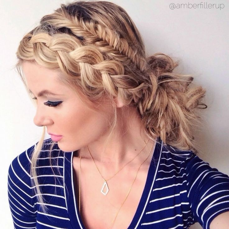 cool Mixed braided updos hairstyle for women