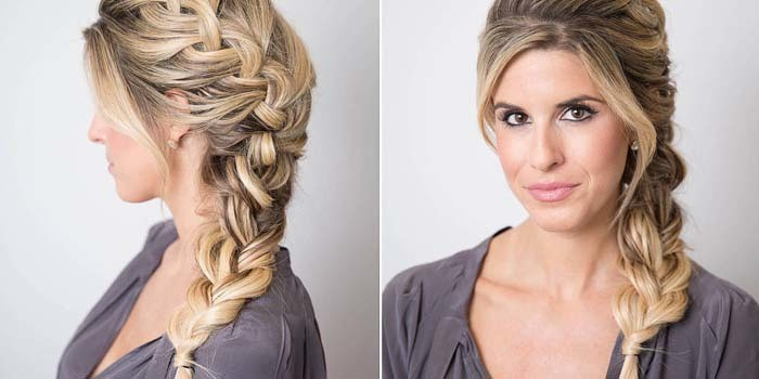 Long Side braided updos hairstyle