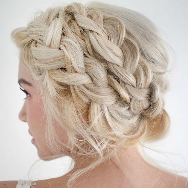 best Double braids updos haircut for women