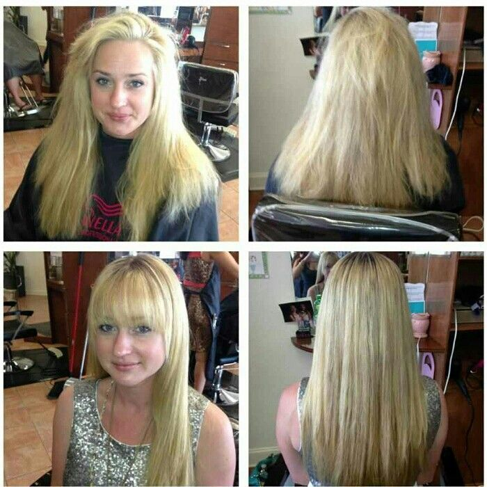 Brazilian Blowout Photo Blonde Girl