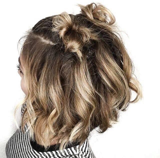 30 Flattering Bun Hairstyles For Short Hair Popular For 2020