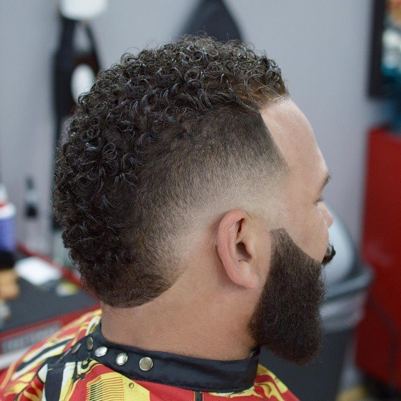drop fade with fohawk