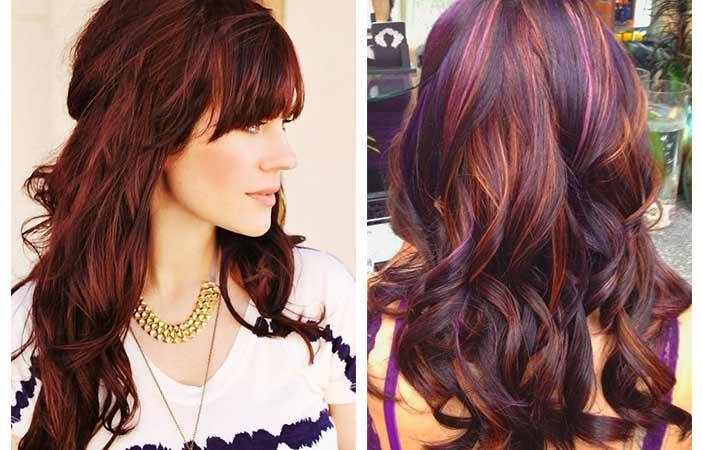 Cherry Cola Highlight Hair Color for girl
