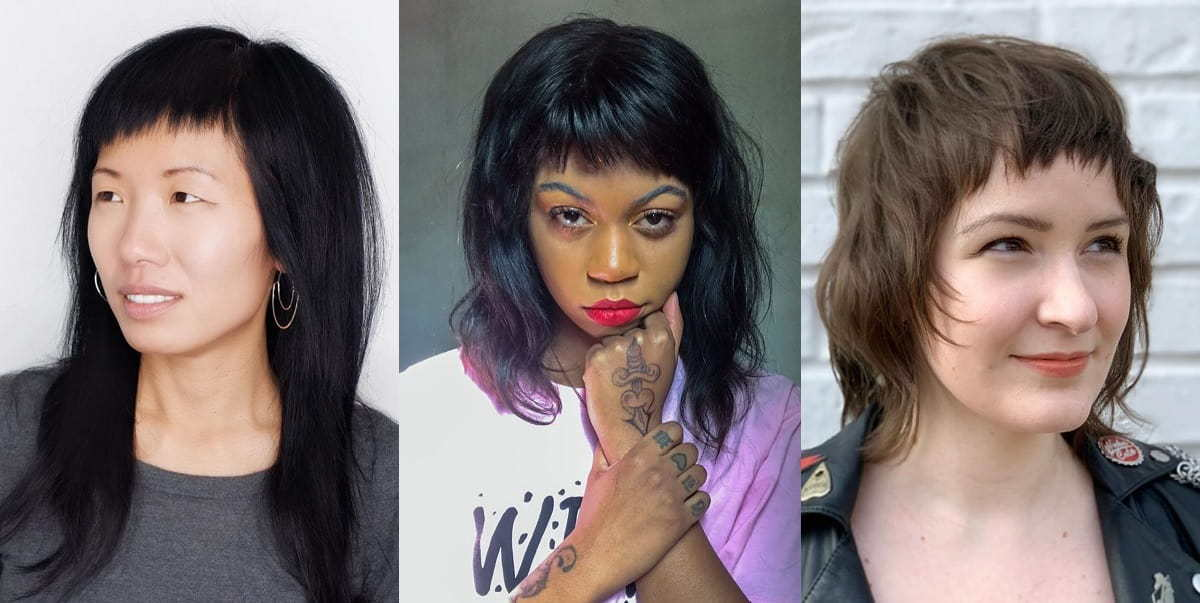 women's choppy bangs style