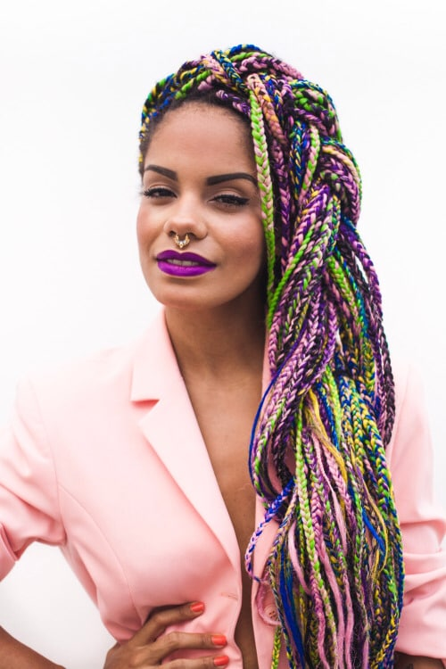 Colorful Box Braids 6 Hairstylecamp