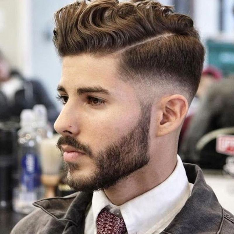 Delightful Thereu0027s A Lot Going On Here, But All Of Itu0027s On Point. Men With Naturally  Curly Or Wavy Hair Bring A New Dimension To The Combed Over Undercut.