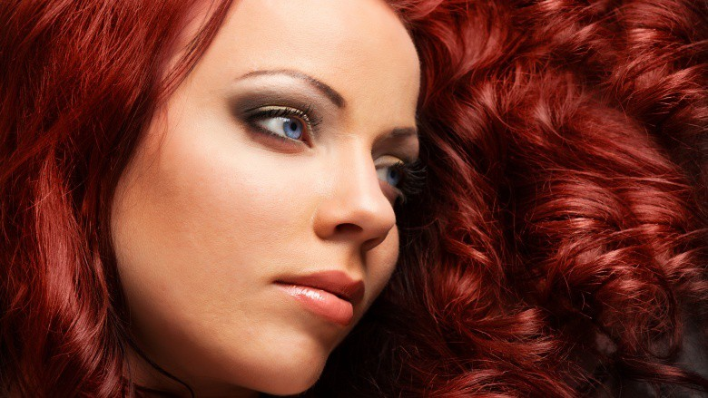 Fiery Red Hair Color For Tan Skin women