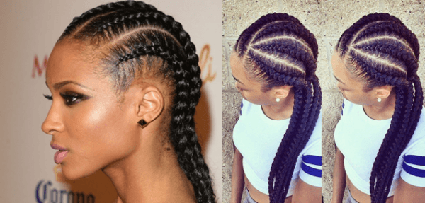 Ideas Black Braid Hairstyles 2016 Natural Of Mohawk Styles Women