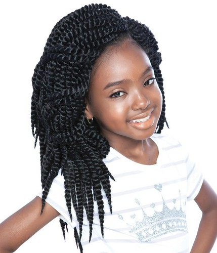 Twists Crochet Braids hairstyle for kids