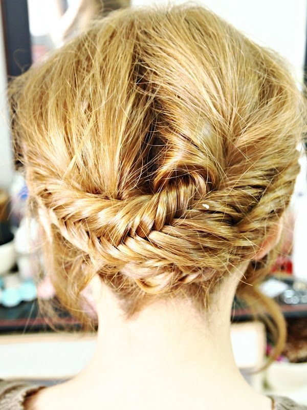 fishtail braid haircut for young girl