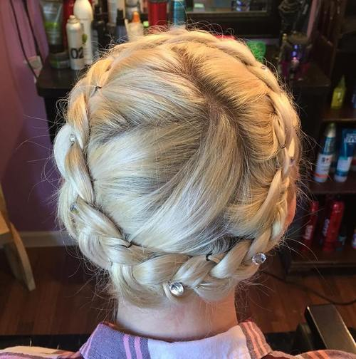 Accessorize braids for young girl