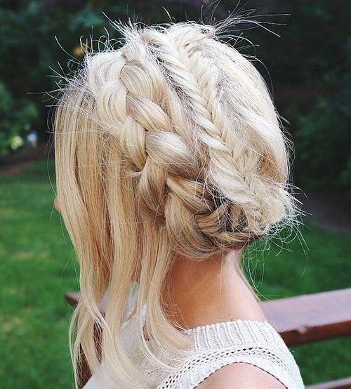 white crown braids haircut