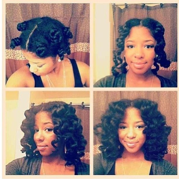 curly bantu knots