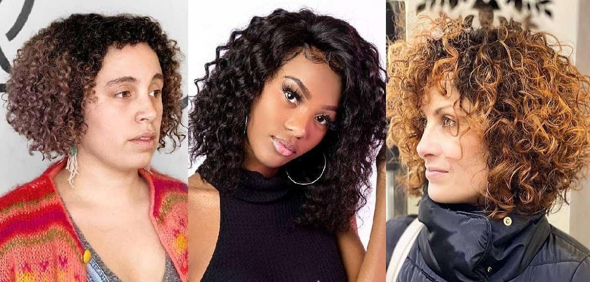 curly bob haircut for women