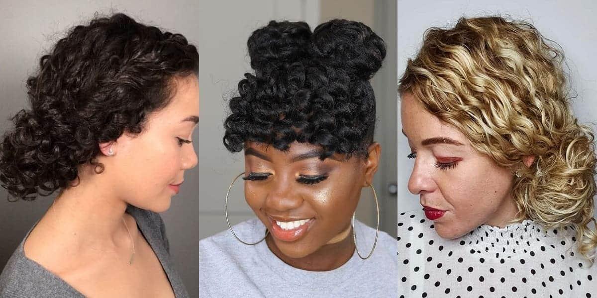 curly bun hairstyle