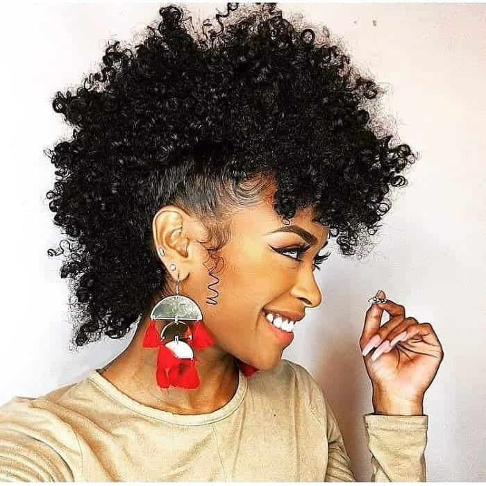 35 Captivating Curly Mohawk Styles For Women Hairstylecamp