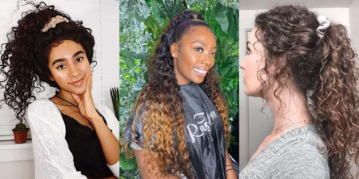 curly ponytail style