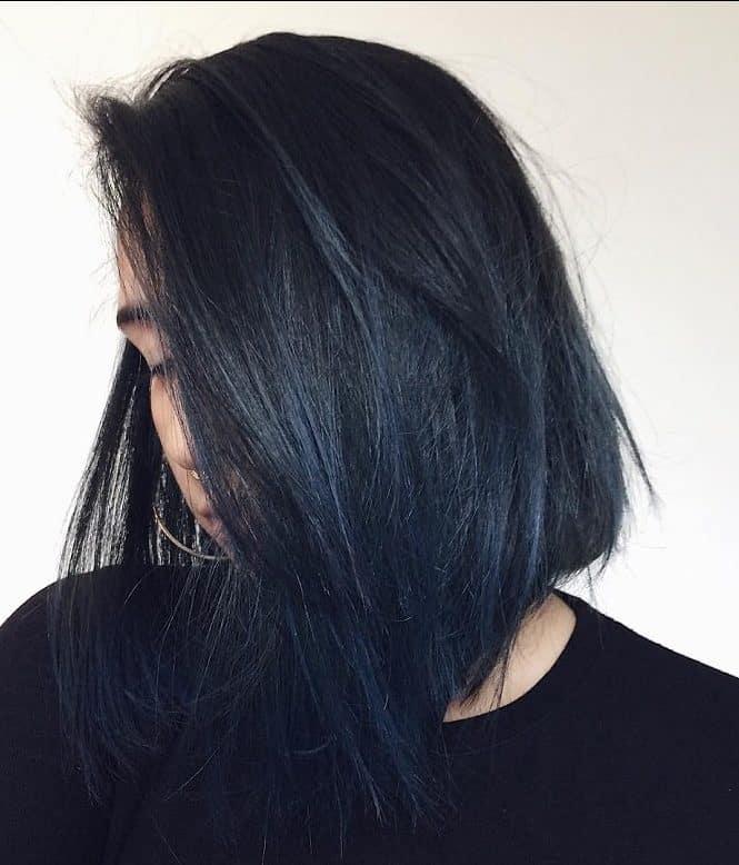 25 Dark Blue Hair Colors For Women Get A Unique Style