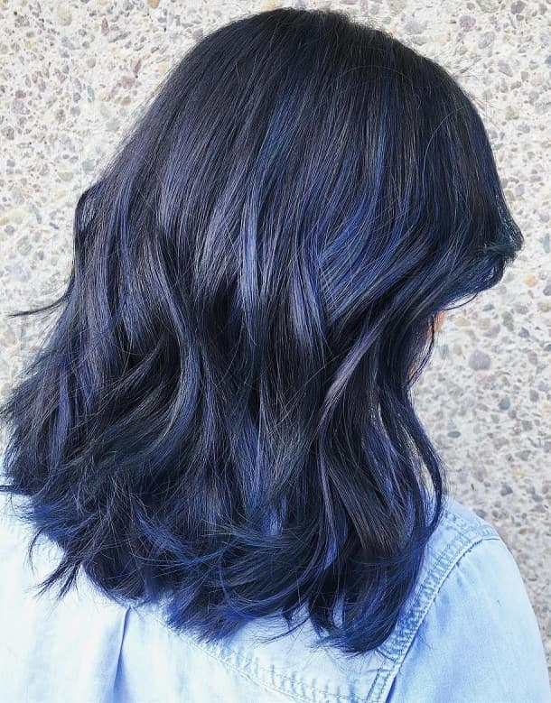 25 Dark Blue Hair Colors For Women
