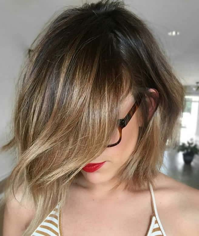 10 Hypnotic Short Hairstyles With Dark Ombre For Ladies
