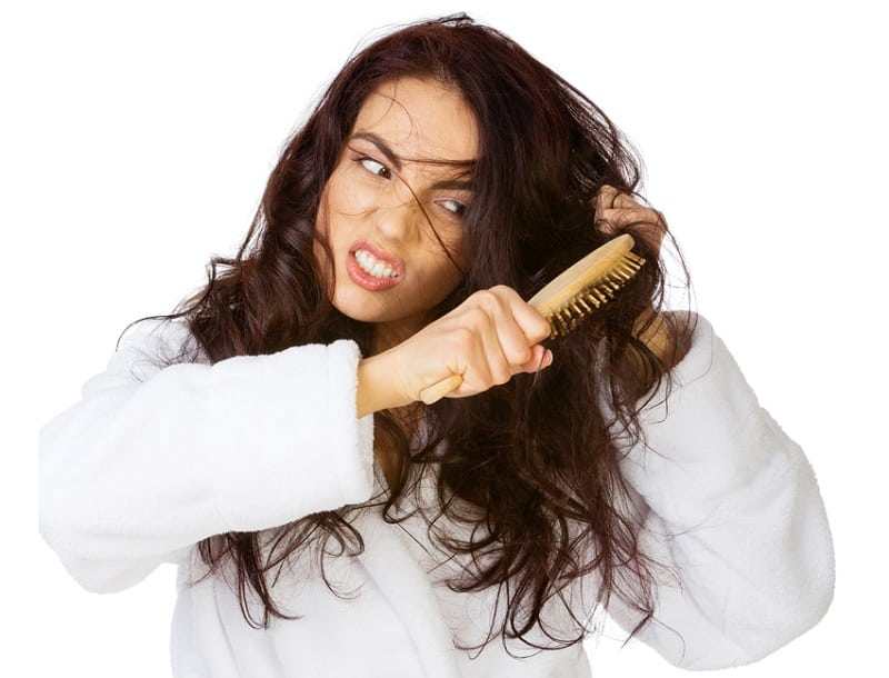 распутывание кончиков волос и ошибки
