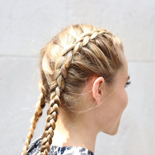 Sweat Proof Hairstyles How To Dutch Braid Tutorial Fit Fashionable Friday