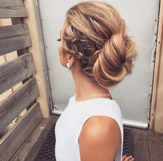 5 easy to make side french braids for long haired divas double side french braid bun ccuart Images