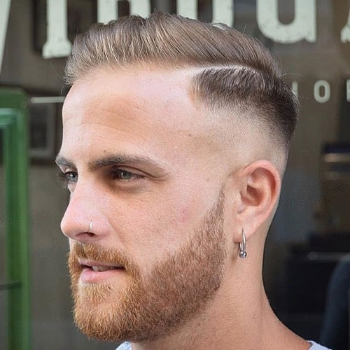 8 Handsome Fade Haircuts With Part Hairstylecamp